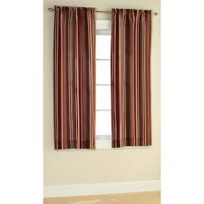 mainstays poly duck stripe curtain panel set of 2