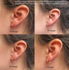 ear piercing hoop mini hoop earrings bronze niobium with silver unique handcrafted