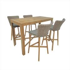 Bunnings Bar Table Beautiful Timber Bar Table With Mimosa 5 Corsica Wicker And
