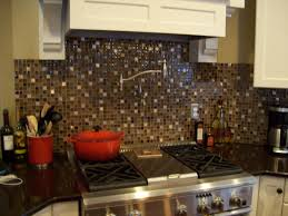 Glass Mosaic Tile Kitchen Backsplash Ideas Decoration Ideas Inspiring Kitchen Interior Decoration With Red