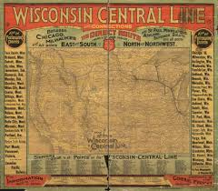 Map Of Central Wisconsin by 24x36 Vintage Reproduction Railroad Train Historic Map Wisconsin 1880