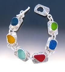 glass bracelet images Jewelry quot b188 stunning 6 color sea glass bracelet quot original jpg