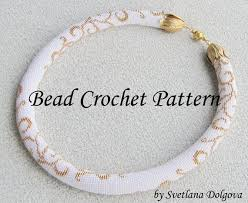 pattern gold necklace images Pattern for bead crochet necklace gold etsy jpg