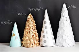 craft paper fabric felt trees inspiration