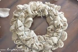 diy burlap wreath living well spending less