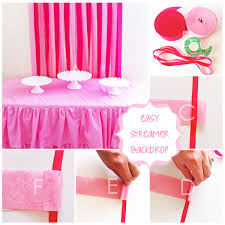streamer backdrop cupcake with character easy streamer backdrop