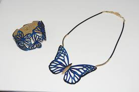 blue leather bracelet images Blue butterfly leather bracelet vit ria global fashion llc jpg