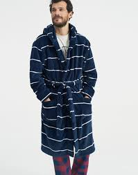 cosytime blue fleece dressing gown joules uk