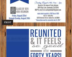 high school reunion invitations reunion invitation etsy