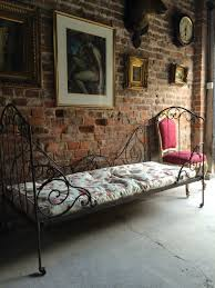 french antique victorian day bed 19th century casters wrought iron