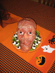 halloween party food ideas fun halloween party food prosciutto ham head u0026 pillsbury spooky