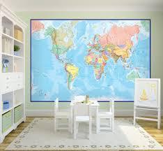 Wall Map Murals Best World Map Wall Murals Home Design 939