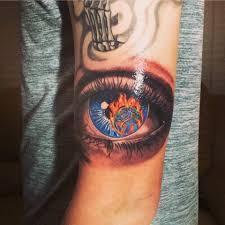 olio eyeball tattoo by blanco from hart and huntington tattoo las