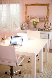 girly feminine pink home office desk home decor