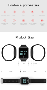 kaload z66 smart sports bracelet rate blood pressure monitor