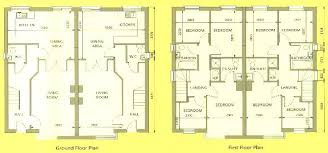 semi detached house floor plan detached building plans semi detached house plan crafty design ideas