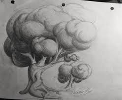 tree pencil drawing sketchbook drawing 4