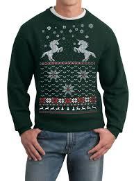 mens sweater unicorn pullover