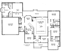 colonial style house plan 4 beds 3 50 baths 2483 sq ft plan 14 103