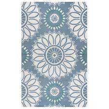 Rizzy Home Rugs Rizzy Home Azzura Hill Gray Medallion 5 Ft X 7 Ft 6 In Indoor