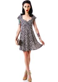 va va voom dresses sourpuss clothing vavavoom leopard dress dolls kill