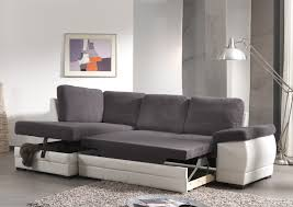 canapé angle convertible tissu canapé d angle contemporain convertible en tissu coloris gris