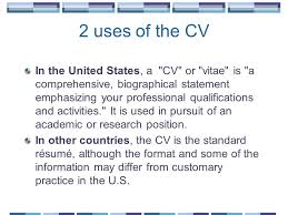 developing and enhancing your cv ppt download