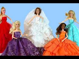 learning colors barbie dolls dress toys video educational