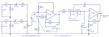 car subwoofer filter electronic circuits and diagram electronics