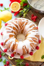simple lemon raspberry bundt cake mariah u0027s pleasing plates