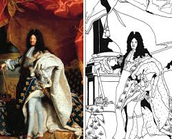 new coloring page louis xiv of france the sun king coloring