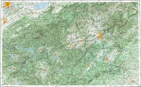Map Of Asheville Nc Download Topographic Map In Area Of Knoxville Asheville