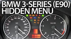 how to enter hidden menu in bmw e90 e91 e92 e93 3 series service