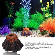 aquarium fish tank ornament decor volcano air
