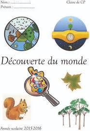 Page de garde cahier de découverte du monde CP  Ce1  Le blog de