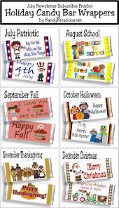 thanksgiving and christmas holiday candy bar wrapper printables everyday parties