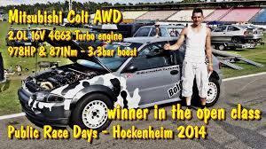 mitsubishi colt turbo engine mitsubishi colt awd 9 29s 251kmh 1st place hockenheim 2014 youtube