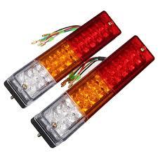 led trailer tail lights 2x led stop rear tail brake reverse light turn indiactor 12v boat