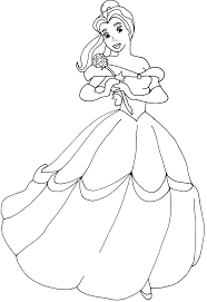 cartoon printable belle coloring pages coloring tone