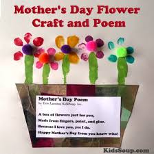 mothers day flower mother s day flower craft and poem kidssoup