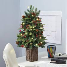 tabletop live tree lights decoration
