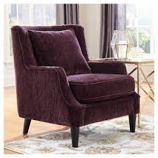 Donny Osmond Home Decor Chair Velvet Accent Chair Purple Donny Osmond Home Products