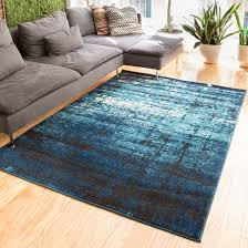 All Modern Area Rugs by Coolidge Modern Distressed Blue Area Rug U0026 Reviews Allmodern