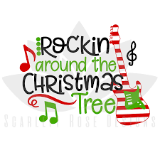 christmas svg cut file rockin around the christmas tree cut file