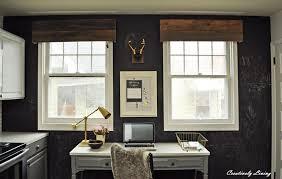 Black Valances Diy Rustic Window Valances By Creatively Living Blog