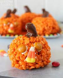 rice crispy treat pumpkins 16 out rice krispie treats recipes tip junkie