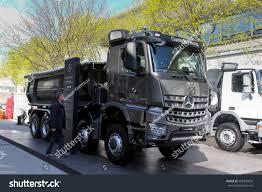 mercedes truck 2016 munich april 13 2016 truck mercedes stock photo 408309655