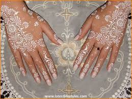 white henna designs for hands life with style