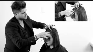 how to trim sides and back of hair cutting a perfect side bang how to cut a side swept bang