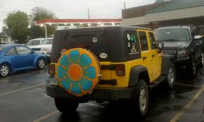 power wheels wheels jeep wrangler bright flower power wheel cover for spare tire offroad suvs